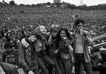 31-05-1976 - Fans and crowd at The Who concert 1976 , Charlton football ground, Charlton, South East London © Martin Mayer