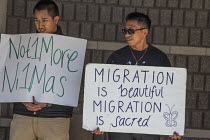 03-12-2016 - California, USA People of faith vigil outside the Richmond Immigration Detention Centre where immigrants are held before being deported. Donald Trump has promised to deport millions © David Bacon
