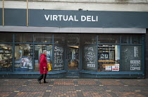 16-12-2016 - Virtual Deli, shopfront installed by Swindon Borough Council to encourage redevelopment, Swindon Shopping precinct, Wiltshire © John Harris