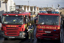 13-01-2017 - Emergency services gather in Jaywick under severe flood warning from a storm surge. Essex © Jess Hurd