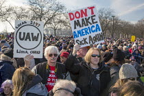 15-01-2017 - Detroit, Michigan USA, Save Health Care Rally, Day of Action opposing Republican proposals to repeal Obamacare, the Affordable Care Act (ACA) © Jim West