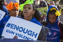 16-01-2017 - San Francisco, California, USA March celebrating the birthday of Rev. Martin Luther King Jr. End gun violence © David Bacon