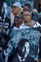 16-01-2017 - San Francisco, California, USA March celebrating the birthday of Rev. Martin Luther King Jr © David Bacon