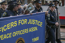16-01-2017 - San Francisco, California, USA March celebrating the birthday of Rev. Martin Luther King Jr. Officers for Justice is the organisation of African American police officers which fought discrimination in... © David Bacon