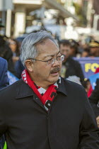 16-01-2017 - San Francisco, California, USA, March celebrating the birthday of Rev. Martin Luther King Jr. San Francisco Mayor Ed Lee © David Bacon