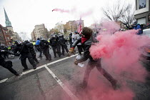 20-01-2017 - Anti Trump protests on Inauguration Day as Donald Trump takes office as President of USA, Washington DC © Jess Hurd