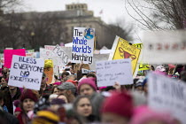 21-01-2017 - USA, Women's March on Washington DC. Over a million protest against Donald Trump on his first day as President © Jess Hurd