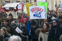 21-01-2017 - London Women's March against the Presidency of Donald Trump. Bridges Not Walls © Stefano Cagnoni