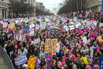 21-01-2017 - USA, Womens March on Washington DC. Over a million protest against Donald Trump on his first day as President © Jim West