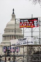 21-01-2017 - USA, Women's March on Washington DC. Over a million protest against Donald Trump on his first day as President © Jim West