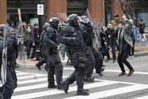 20-01-2017 - Washington DC, Police attacking media during anti Trump protests on Inauguration Day as Donald Trump takes office as President of USA © Jess Hurd