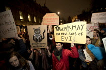 30-01-2017 - Thousands protest against American immigration ban and the invitation to President Donald Trump of a state visit, Westminster, London © Jess Hurd