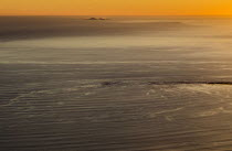29-01-2017 - View from Mount Tampalpais as the sun sets on a calm sea north of San Francisco. The Farallones Islands are near the horizon © David Bacon