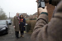 18-02-2017 - Gareth Snell, Labour Party canvassing, Bentilee, Stoke on Trent Central, Staffordshire posing for a photograph © John Harris