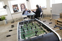 27-09-2016 - LAUNCH22 Start Up Incubator, Tempest building, Tithebarn Street, Liverpool, table football machine © Jess Hurd