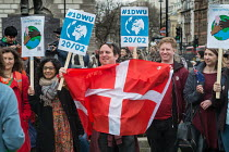 20-02-2017 - One Day Without Us flag mob in support of migrants, Parliament Square, London © Philip Wolmuth