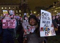 20-02-2017 - One Day Without Us protest in Parliament Square in support of immigrants and the benefits immigration brings to the UK and against the planned visit of USA President Donald Trump © Stefano Cagnoni