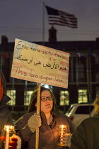 15-02-2017 - Detroit, Michigan USA. Protest against deportations of immigrants and the USA Mexican border wall. Organised by a coalition of Muslim, Jewish, and Hispanic groups © Jim West
