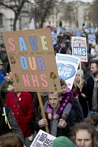 04-03-2017 - It's Our NHS, National Demonstration to defend the NHS, London. Psychologists against Austerity © Jess Hurd
