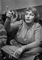 07-10-1977 - Erin Pizzey, family care activist and a novelist, founder of the first domestic violence shelter, Chiswick Womens Aid in 1971. Haven House was the first womens refuge removing victims of domestic abus... © Martin Mayer