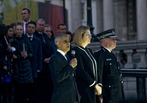 23-03-2017 - Candlelit London Vigil Trafalgar Square in solidarity with the victims of the Westminster terrorist attack, Mayor of London Sadiq Khan speaking with Home Secretary Amber Rudd MP and Acting Police Comm... © Stefano Cagnoni