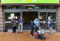 03-30-2017 - National Day of Action Against Sanctions. Leafleting claimants outside Cheylesmore Jobcentre Coventry. Unite Community say 100,000 claimants have have had their benefits suddenly stopped by sanctions... © John Harris