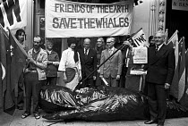 21-06-1976 - FOE lobby of delegates to the International Whaling Commission meeting to Save the Whales, London 1976. To demand the end of commercial whaling by Russia and Japan © NLA