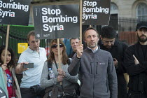 07-04-2017 - Stop Bombing Syria, Stop The War Coalition protest, Downing Street, London © Philip Wolmuth