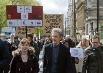 22-04-2017 - Actor Peter Capaldi, Dr Who in television series. March For Science, London. International protest on Earth Day against global political questioning of facts and for protection of the environment © Stefano Cagnoni