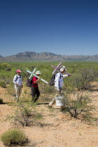 18-04-2017 - Tucson, Arizona, USA Mexican Border, Tucson Samaritans placing crosses in the desert where the remains of immigrants were found. Hundreds of migrants from Mexico and Central America die trying to evad... © Jim West