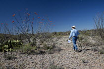 18-04-2017 - Tucson, Arizona, USA Mexican Border, Tucson Samaritan leaving water in the Arizona desert. The aim is to prevent the deaths of some of the hundreds of migrants who die crossing the US Mexico border ea... © Jim West