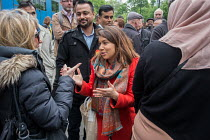 06-05-2017 - Tulip Siddiq launching her general campaign for Hampstead and Kilburn, the tenth most marginal Labour parliamentary seat in the UK. Swiss Cottage, London © Philip Wolmuth