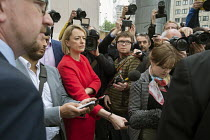 11-05-2017 - Laura Kuenssberg BBC political editor, other journalists and photographers, Labour Party general election campaign poster launch, London © Philip Wolmuth