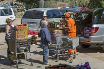 19-04-2017 - Nogales, Arizona, Prisoners working at the Borderlands Food Bank warehouse. It distributes 30 to 40 million pounds of produce each year that would otherwise end up in landfill © Jim West