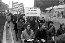 20-12-1972 - National one day AUEW strike against the fines imposed by the National Industrial Relations Court on the union, Liverpool 1972. CAV Lucas workers occupied their factory against closure and redundancie... © NLA