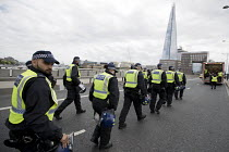 24-06-2017 - Policing Unite Against Extremism, Football Lads Alliance march to lay club wreaths at London Bridge, the site of a terror attack. © Jess Hurd