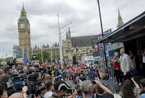 01-07-2017 - Jeremy Corbyn speaking, rally in Parliament Square. Not One Day More protest demanding the Tory Government go and an end to austerity policies © Stefano Cagnoni