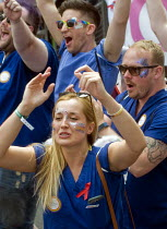 08-07-2017 - Pride 2017. Celebrating NHS workers join Gay Pride celebration and march London © Stefano Cagnoni