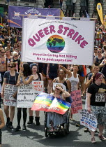 08-07-2017 - Pride 2017. LGBTQ for Corbyn supporters at Gay Pride celebration and march London. Queer Strike © Stefano Cagnoni