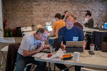 15-07-2017 - Momentum Hackathon. Collaborative election software development workshop, Shoreditch, London © Philip Wolmuth