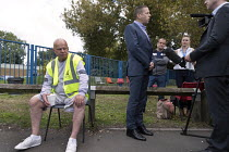 01-09-2017 - Howard Beckett Unite speaking to TV. Birmingham council refuse workers go on strike against redundancies, Perry Barr Depot, Birmingham. Birmingham City Council want to save 600,000 a year by axing 113... © John Harris