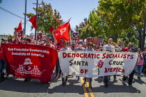 27-08-2017 - Berkeley, California, USA Protest by anti racists against a planned rally by far right white supremacists, Democratic Socialists of America © David Bacon