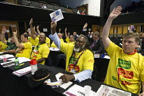 12-09-2017 - RMT delegation voting TUC Congress Brighton 2017 © John Harris