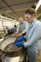 24-08-2017 - Fort Collins, Colorado, USA Tanks of liquid nitrogen store semen from cows and other animals at -320 degrees F, National Laboratory for Genetic Resources Preservation, part of the Department of Agricu... © Jim West
