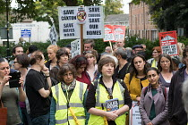 23-09-2017 - StopHDV protest against proposed privatisation of Haringey council estates, Tottenham, London © Philip Wolmuth