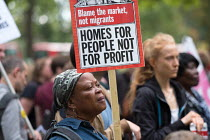 23-09-2017 - Homes For People Not For Profit. StopHDV protest against proposed privatisation of Haringey council estates, Tottenham, London © Philip Wolmuth