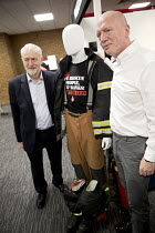 25-09-2017 - Jeremy Corbyn visits the FBU stand with Matt Wrack at Labour Party Conference, Brighton 2017 © Jess Hurd