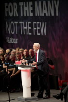 27-09-2017 - Jeremy Corbyn speaking, Labour Party Conference, Brighton 2017 © Jess Hurd