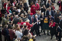 27-09-2017 - Jeremy Corbyn with supporters arriving, Labour Party Conference, Brighton 2017 © Jess Hurd