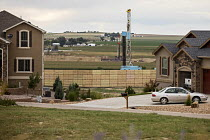 24-08-2017 - Berthoud, Colorado, USA Fracking rigs near new homes, Weld County © Jim West